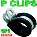 13mm W1 EPDM Rubber Lined Metal P Clip
